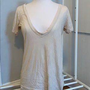 LNA deep v neck t shirt